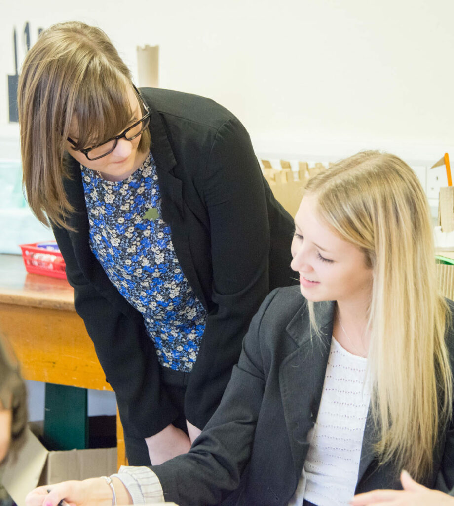 Pupil with teacher